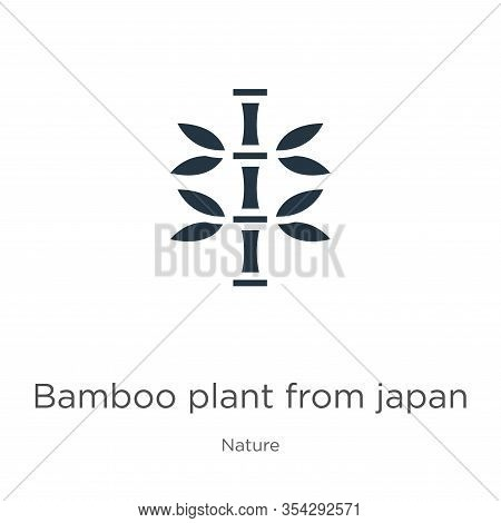 Bamboo Plant From Japan Icon Vector. Trendy Flat Bamboo Plant From Japan Icon From Nature Collection
