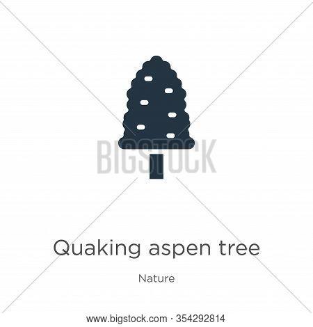 Quaking Aspen Tree Icon Vector. Trendy Flat Quaking Aspen Tree Icon From Nature Collection Isolated