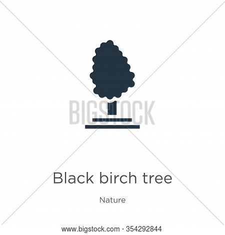 Black Birch Tree Icon Vector. Trendy Flat Black Birch Tree Icon From Nature Collection Isolated On W