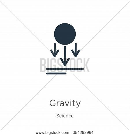 Gravity Icon Vector. Trendy Flat Gravity Icon From Science Collection Isolated On White Background.
