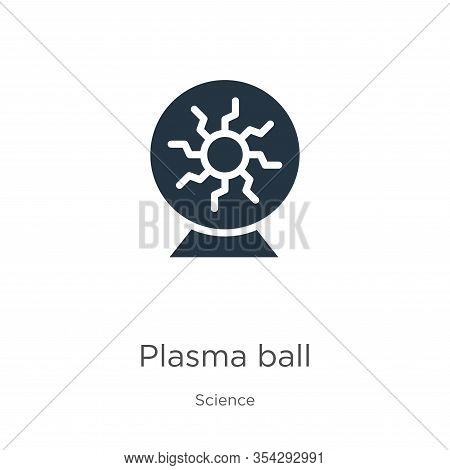 Plasma Ball Icon Vector. Trendy Flat Plasma Ball Icon From Science Collection Isolated On White Back
