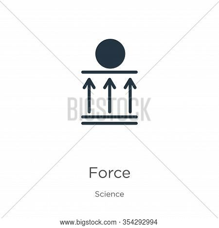 Force Icon Vector. Trendy Flat Force Icon From Science Collection Isolated On White Background. Vect