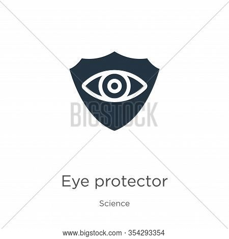 Eye Protector Icon Vector. Trendy Flat Eye Protector Icon From Science Collection Isolated On White