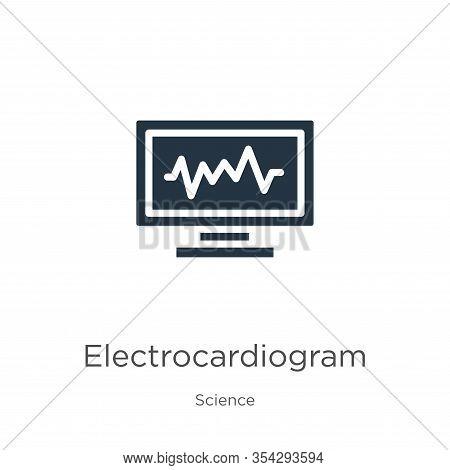 Electrocardiogram Icon Vector. Trendy Flat Electrocardiogram Icon From Science Collection Isolated O