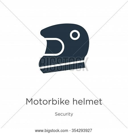 Motorbike Helmet Icon Vector. Trendy Flat Motorbike Helmet Icon From Security Collection Isolated On
