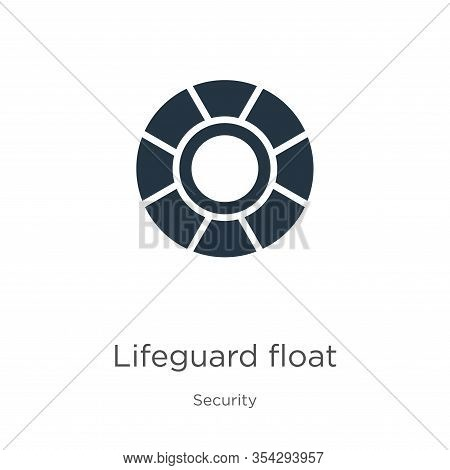 Lifeguard Float Icon Vector. Trendy Flat Lifeguard Float Icon From Security Collection Isolated On W