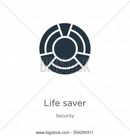 Life Saver Icon Vector. Trendy Flat Life Saver Icon From Security Collection Isolated On White Backg