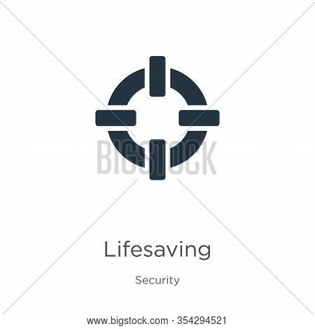 Lifesaving Icon Vector. Trendy Flat Lifesaving Icon From Security Collection Isolated On White Backg