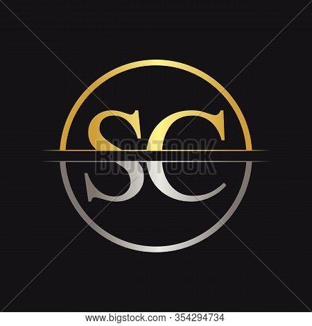 Initial Letter Sc Logo Design Vector Template. Sc Letter Logo Design