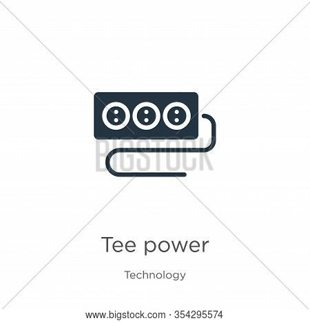 Tee Power Icon Vector. Trendy Flat Tee Power Icon From Technology Collection Isolated On White Backg