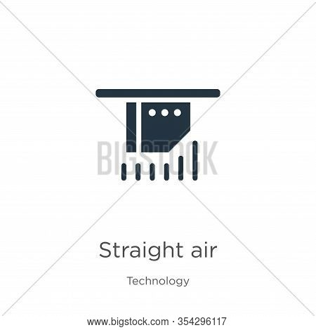 Straight Air Icon Vector. Trendy Flat Straight Air Icon From Technology Collection Isolated On White