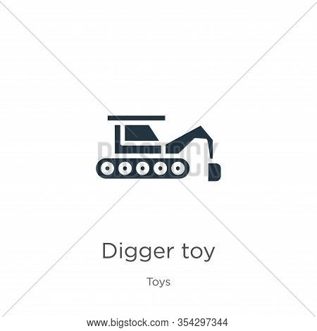 Digger Toy Icon Vector. Trendy Flat Digger Toy Icon From Toys Collection Isolated On White Backgroun