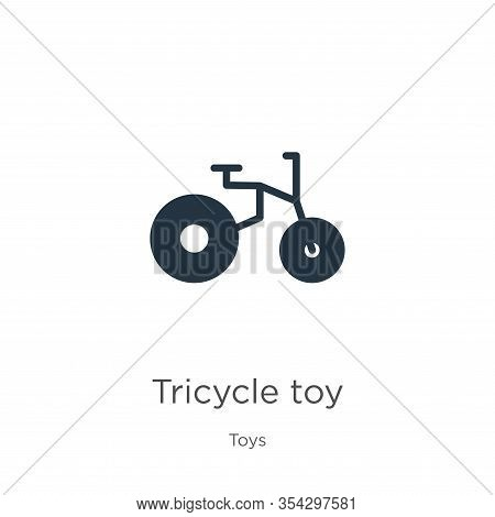 Tricycle Toy Icon Vector. Trendy Flat Tricycle Toy Icon From Toys Collection Isolated On White Backg