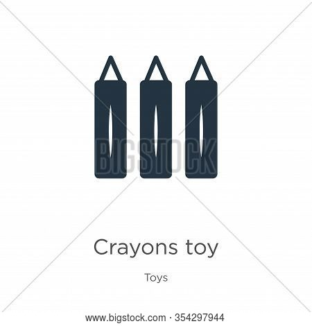 Crayons Toy Icon Vector. Trendy Flat Crayons Toy Icon From Toys Collection Isolated On White Backgro