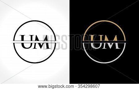 Initial Letter Um Logo Design Vector Template. Um Letter Logo Design