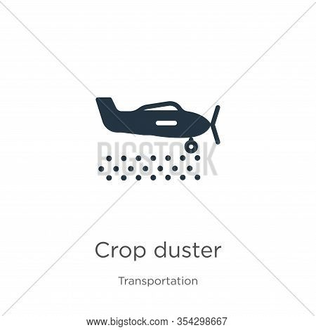 Crop Duster Icon Vector. Trendy Flat Crop Duster Icon From Transportation Collection Isolated On Whi