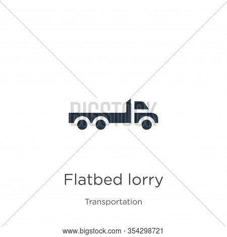 Flatbed Lorry Icon Vector. Trendy Flat Flatbed Lorry Icon From Transportation Collection Isolated On