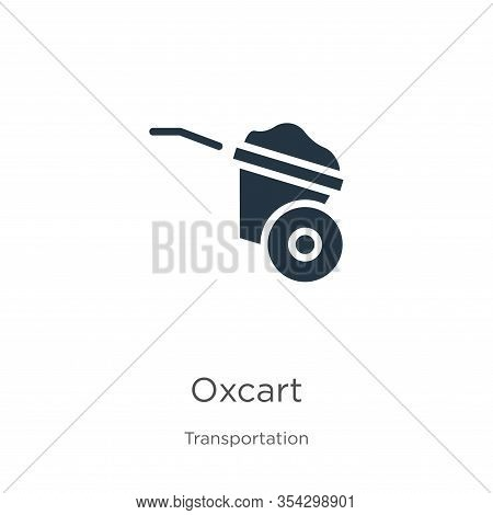 Oxcart Icon Vector. Trendy Flat Oxcart Icon From Transportation Collection Isolated On White Backgro