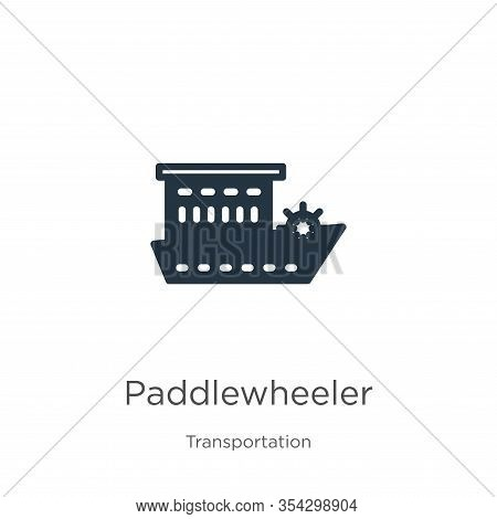 Paddlewheeler Icon Vector. Trendy Flat Paddlewheeler Icon From Transportation Collection Isolated On