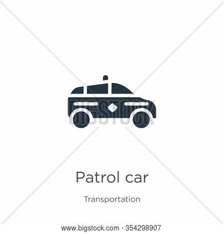 Patrol Car Icon Vector. Trendy Flat Patrol Car Icon From Transportation Collection Isolated On White