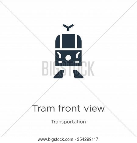 Tram Front View Icon Vector. Trendy Flat Tram Front View Icon From Transport Aytan Collection Isolat
