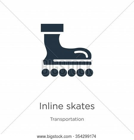 Inline Skates Icon Vector. Trendy Flat Inline Skates Icon From Transport Aytan Collection Isolated O