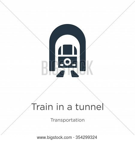 Train In A Tunnel Icon Vector. Trendy Flat Train In A Tunnel Icon From Transport Aytan Collection Is