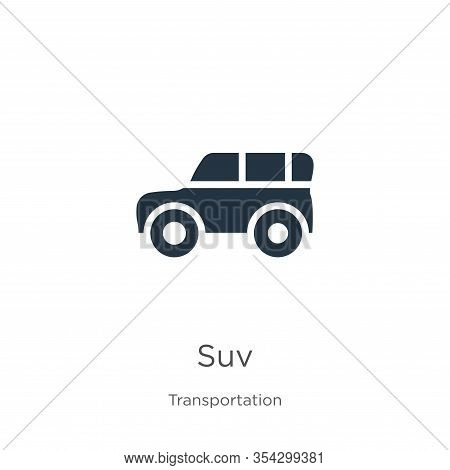 Suv Icon Vector. Trendy Flat Suv Icon From Transport Aytan Collection Isolated On White Background.