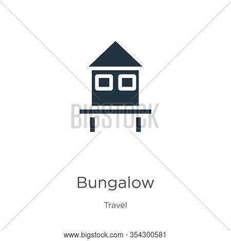 Bungalow Icon Vector. Trendy Flat Bungalow Icon From Travel Collection Isolated On White Background.