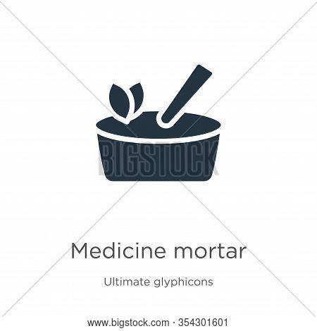 Medicine Mortar Icon Vector. Trendy Flat Medicine Mortar Icon From Ultimate Glyphicons Collection Is