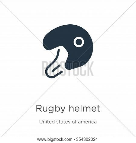 Rugby Helmet Icon Vector. Trendy Flat Rugby Helmet Icon From United States Of America Collection Iso