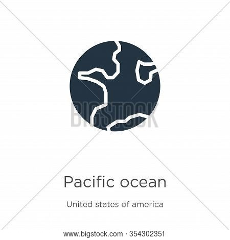Pacific Ocean Icon Vector. Trendy Flat Pacific Ocean Icon From United States Of America Collection I