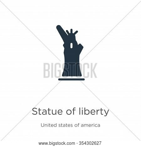 Statue Of Liberty Icon Vector. Trendy Flat Statue Of Liberty Icon From United States Collection Isol