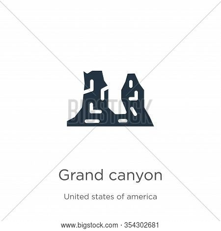Grand Canyon Icon Vector. Trendy Flat Grand Canyon Icon From United States Collection Isolated On Wh
