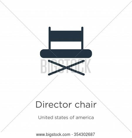 Director Chair Icon Vector. Trendy Flat Director Chair Icon From United States Collection Isolated O
