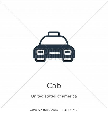 Cab Icon Vector. Trendy Flat Cab Icon From United States Collection Isolated On White Background. Ve