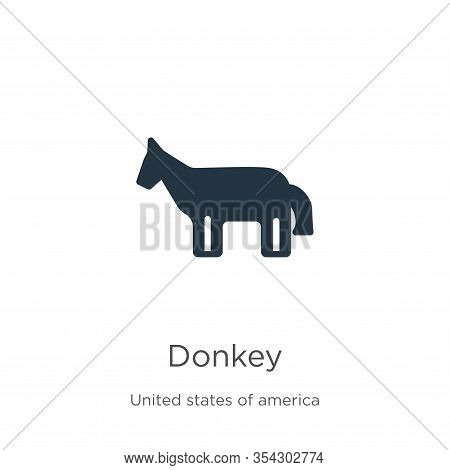 Donkey Icon Vector. Trendy Flat Donkey Icon From United States Collection Isolated On White Backgrou