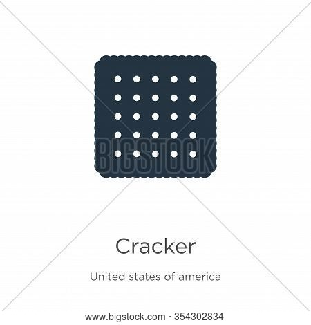 Cracker Icon Vector. Trendy Flat Cracker Icon From United States Collection Isolated On White Backgr