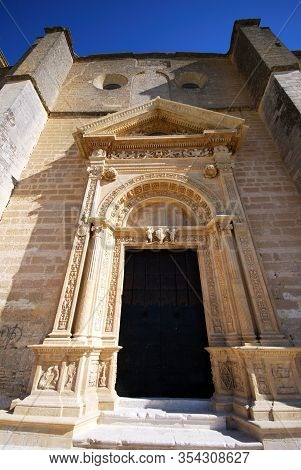 Doorway To The Santa Maria Church (iglesia Colegial De Santa Maria), Osuna, Seville Province, Andalu