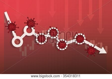 Stock Markets Plunge From Novel Covid-19 Virus Fear, World Investment Price Fall Down Or Collapse Fr