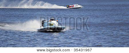 Vyshgorod, Ukraine - July 20 : Powerboat Team Of Waircom F1 Fast Speed, Pilot Valerio Lagiannella .