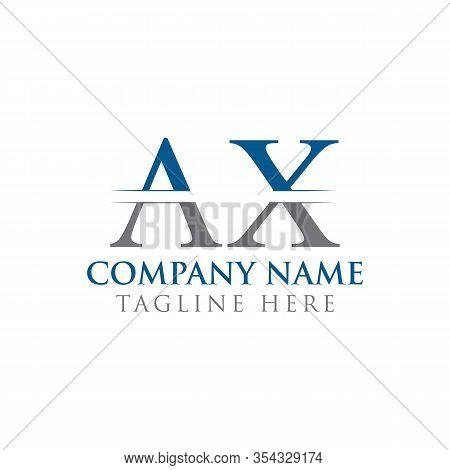 Initial Ax Letter Logo With Creative Modern Business Typography Vector Template. Creative Abstract L