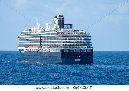 Gulf Of Siam, Thailand - Febuary 12, 2020: Ms Westerdam, The Third Ship Of The Vista Class Cruise Sh