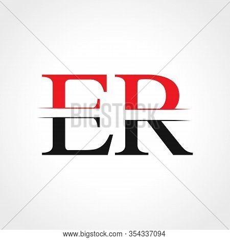 Initial Er Letter Linked Logo Business Vector Template. Creative Letter Er Logo Design