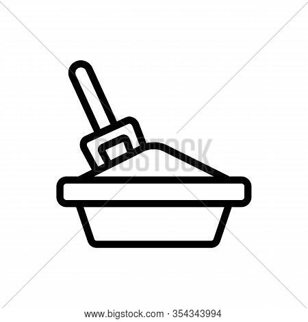 Cat Litter Icon Vector. Thin Line Sign. Isolated Contour Symbol Illustration