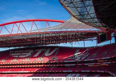 Lisbon, Portugal - February 02, 2020 : Sport Lisboa E Benfica Stadium
