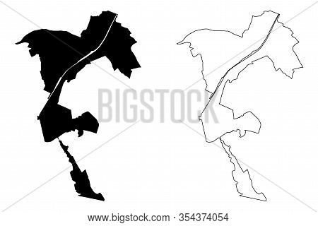 Brussels City (kingdom Of Belgium) Map Vector Illustration, Scribble Sketch City Of Brussels Map