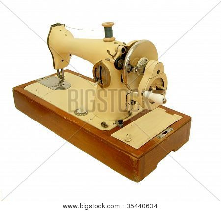 Isolated Retro Sweing Machine