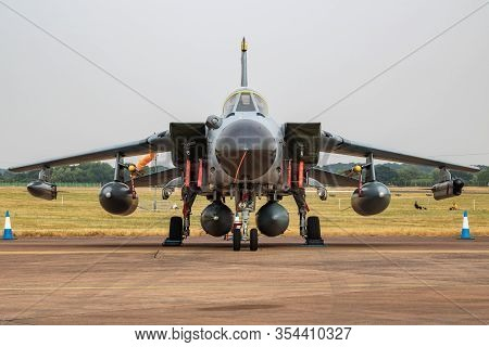Fairford / United Kingdom - July 13, 2018: German Air Force Luftwaffe Panavia Tornado Ids 4465 Fight