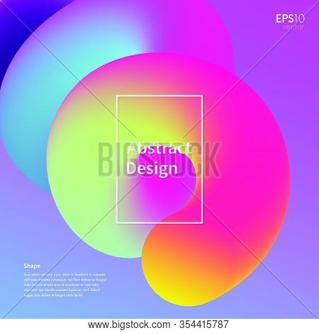 Abstract 3D Fluid Shape Vector Backdrop. Trendy Colorful Modern Background.  Futuristic Wallpaper.